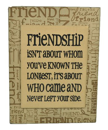 Yellow 'Friendship' Box Sign