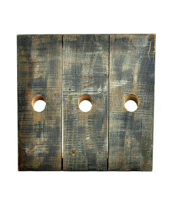 Weathered Plank Wine Rack