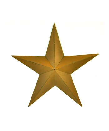 Mustard Medium Star Wall Art