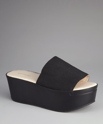 Black Cathy Platform Slide