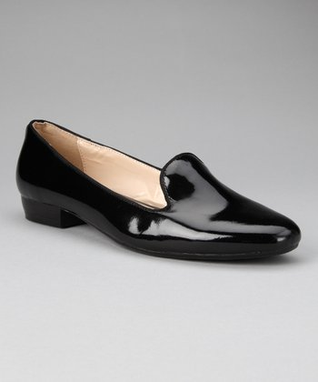 donnabella Black Patent Jolene Loafer