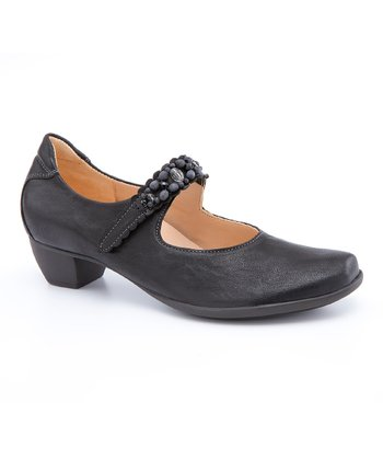 Black & Kombi Bee Mary Jane Pump - Women