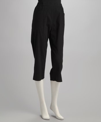 Black Cropped Pants - Petite, Women & Plus