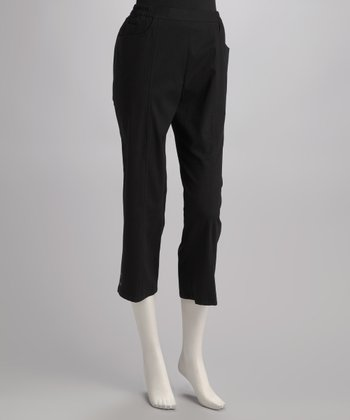 Black Embellished Capri Pants - Petite, Women & Plus