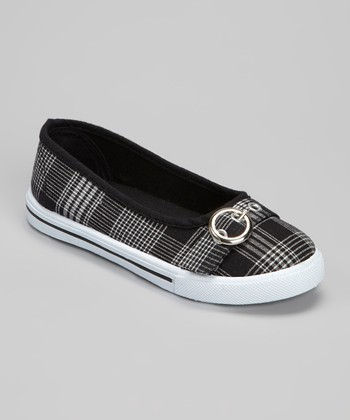 Black Plaid Cutie Ballet Flat