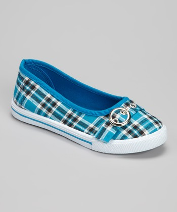 Blue Plaid Cutie Ballet Flat