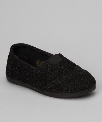 Black Glitter Cutie-12K Slip-On Shoe