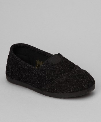 Black Glitter Cutie Slip-On Shoe