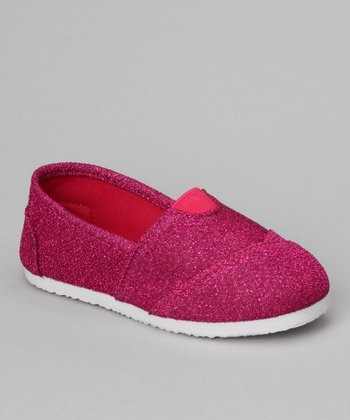 Fuchsia Glitter Cutie-12K Slip-On Shoe