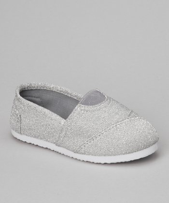 Silver Glitter Cutie Slip-On Shoe