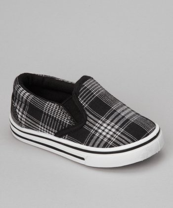 Black Plaid Joe-25I Slip-On Shoe