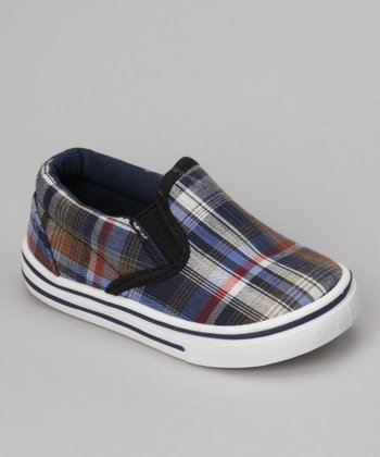 Blue Plaid Joe-25I Slip-On Shoe