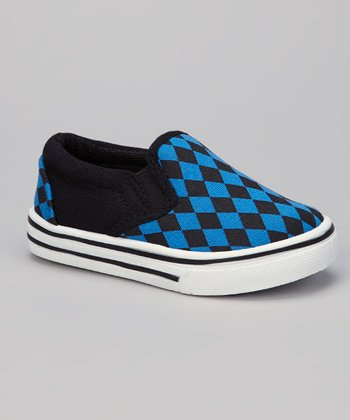 Black & Blue Diamond Slip-On Shoe