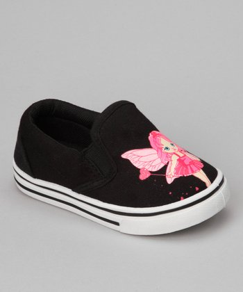 Black & Fuchsia Fairy Joe-55I Slip-On Shoe