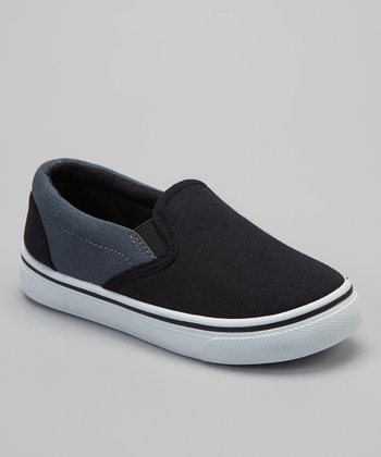Black & Gray Slip-On Sneaker