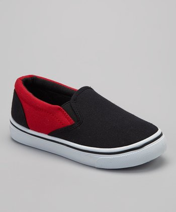 Black & Red Slip-On Sneaker
