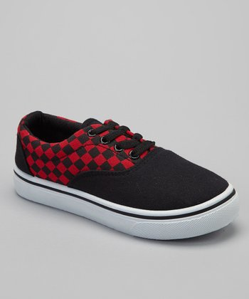 Red Checkerboard Sneaker