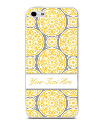Yellow Circle Classic Elegant Personalized Case for iPhone 5