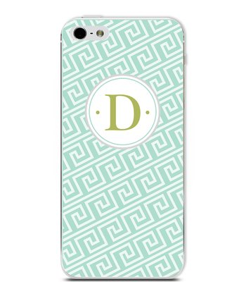 Turquoise Beach Wave Initial Case for iPhone 4/4S
