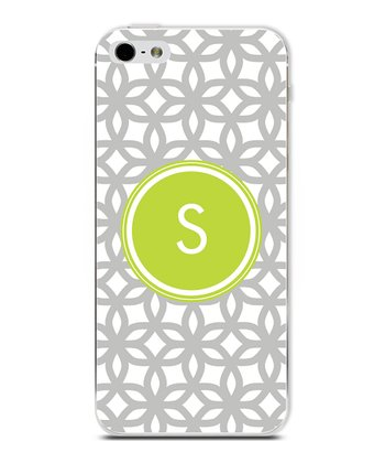 Lime Flower Initial Case for iPhone 4/4S