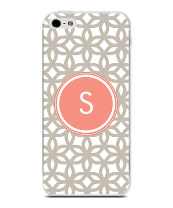Tangerine Flower Initial Case for iPhone 5