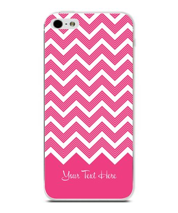Hot Pink Chevron Personalized Case for iPhone 5