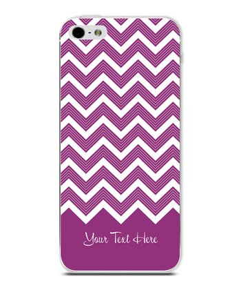 Purple Chevron Personalized Case for iPhone 4/4S