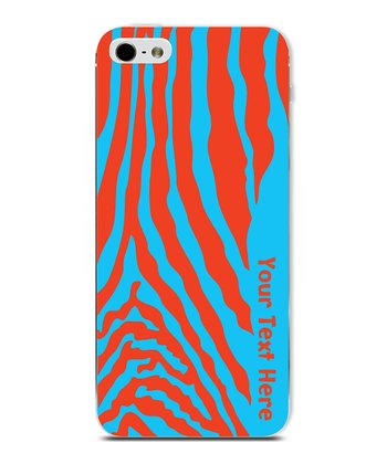 Blue & Red Zebra Personalized Case for iPhone 5