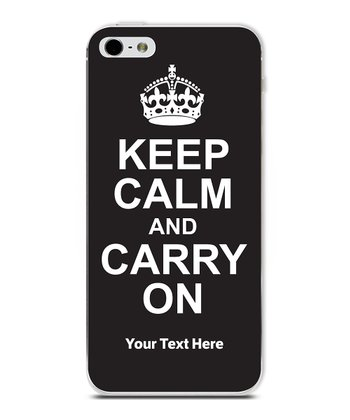 Black 'Keep Calm' Personalized Case for iPhone 4/4S