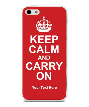 Red 'Keep Calm' Personalized Case for iPhone 5