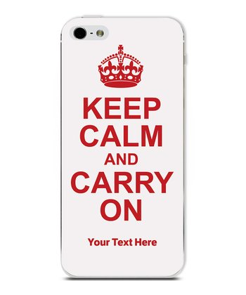 White 'Keep Calm' Personalized Case for iPhone 4/4S