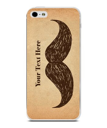Brown Mustache Personalized Case for iPhone 5