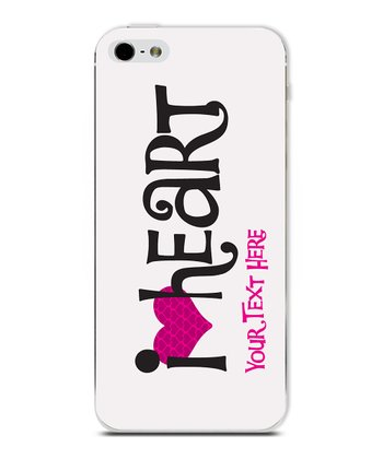 'I Heart' Horizontal Personalized Case for iPhone 5