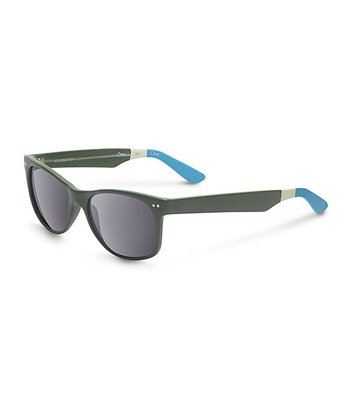 Matte Olive & Light Blue No Logo Beachmaster - Women & Men