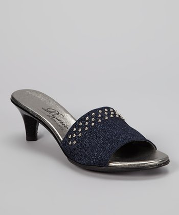 Navy Candy Kitten Heel