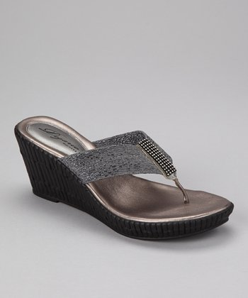 Gray Imperial Wedge Sandal