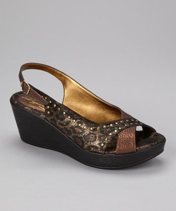 Bronze Roma Slingback Wedge