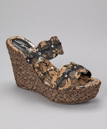 Black Isla Wedge