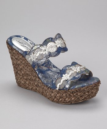 Blue Isla Wedge