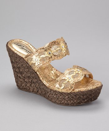 Gold Isla Wedge