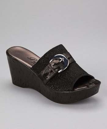 Black Belle Peep-Toe Clog