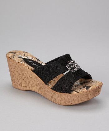 Black Darla Wedge