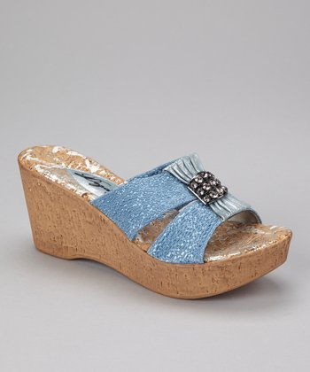 Denim Darla Wedge