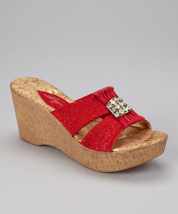 Red Darla Wedge