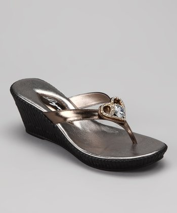 Pewter Joy Wedge Sandal