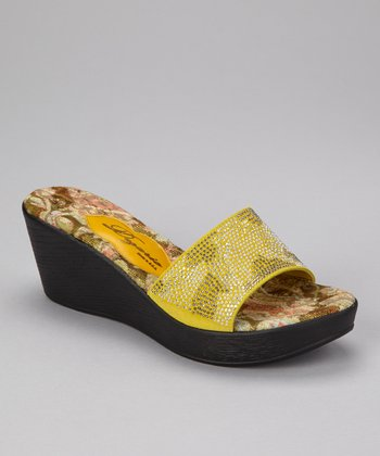 Lime Verona Wedge Slide