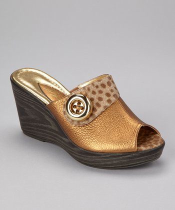 Bronze Princess Peep-Toe Wedge