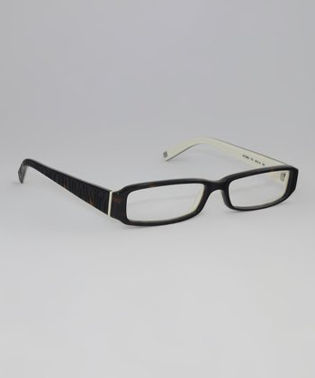 Tortoise & Cream Slim Rectangle Glasses