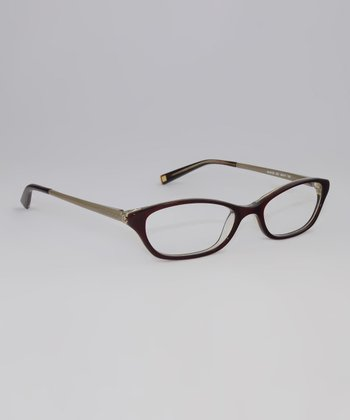 Burgundy Tortoise 49-mm Oval Glasses