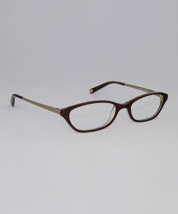 Burgundy Tortoise 51-mm Oval Glasses